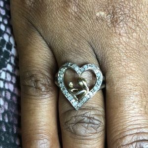 Heart Mother Child Ring